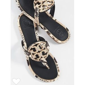 Tory Burch metal Miller sandals metal 7